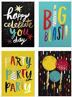 Hallmark Birthday Cards Assortment, Party Party Party (24 Cards with Envelopes)