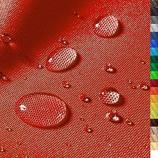 1buy3 Monaco Wasserdichter Polyester Stoff | 12.000 mm Wassersäule | Farbe 09 | Rot | Polyester Stoff 160cm breit Meterware wasserdicht Outdoor extrem reissfest