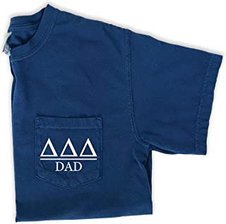 Delta Delta Delta Dad Shirt Sorority Comfort Colors Pocket Tee