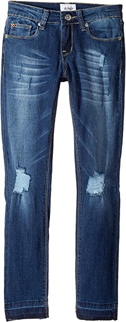 Christa Super Stretch in Vintage Blue Wash (Big Kids)
