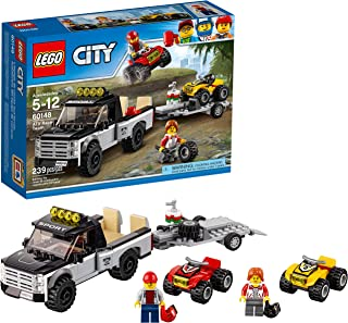 LEGO City ATV Race Team 60148 Building Kit with Toy Truck and Race Car Toys (239 Pieces)