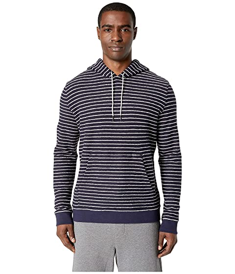 Vince Texture Striped Pullover Hoodie