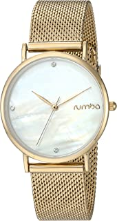 RumbaTime Women's 'Lafayette Collection' Japanese-Quartz Stainless Steel Casual Watch