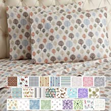 Thermee Micro Flannel Sheet Set, Happy Forest, King