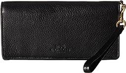 Pebbled Leather Slim Wallet