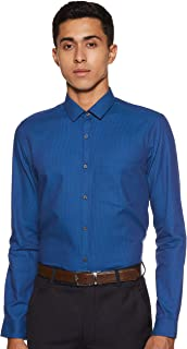 Max Men's Printed Slim Fit Formal Shirt