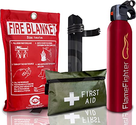 FIRE Safety Essentials 500 G ABC Dry Powder FIRE Extinguisher with Blanket