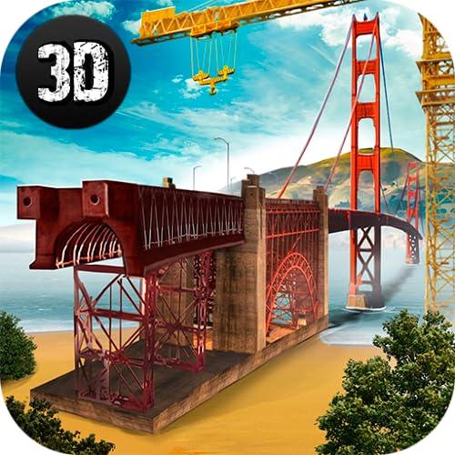 Golden Gate Bridge Builder 3D: City Construction Bridge Building Simulator | Road Construction Simulator: Bridge Builder Game