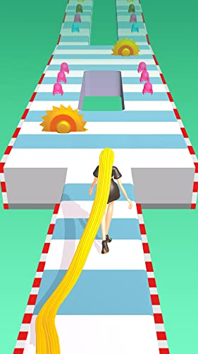 『Hair Runner Challenge game 3d to make your hair long by collecting all hairs in this original girls hair games 2021 fat with fit giant body hair saloon race fun rush to enjoy hairs makeover run pro』の5枚目の画像