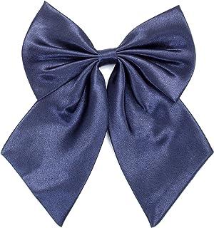 ربطة عنق للسيدات والفتيات - ربطات عنق مصنوعة يدويًا بلون سادة ومربوطة مسبقًا من أجل إكسسوار تنكري للنساء