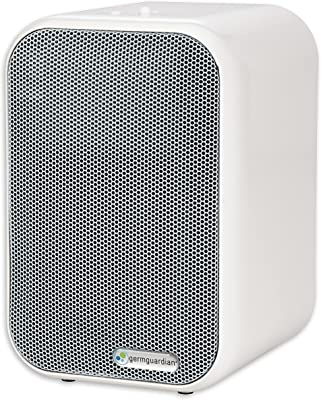 GermGuardian AC4715W 4-in-1 Air Purifier with HEPA Filter, UV Sanitizer, Odor Reduction, 11-Inch Table Top Tower