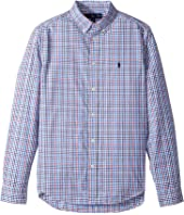 Polo Ralph Lauren Kids Plaid Cotton Poplin Top (Big Kids)