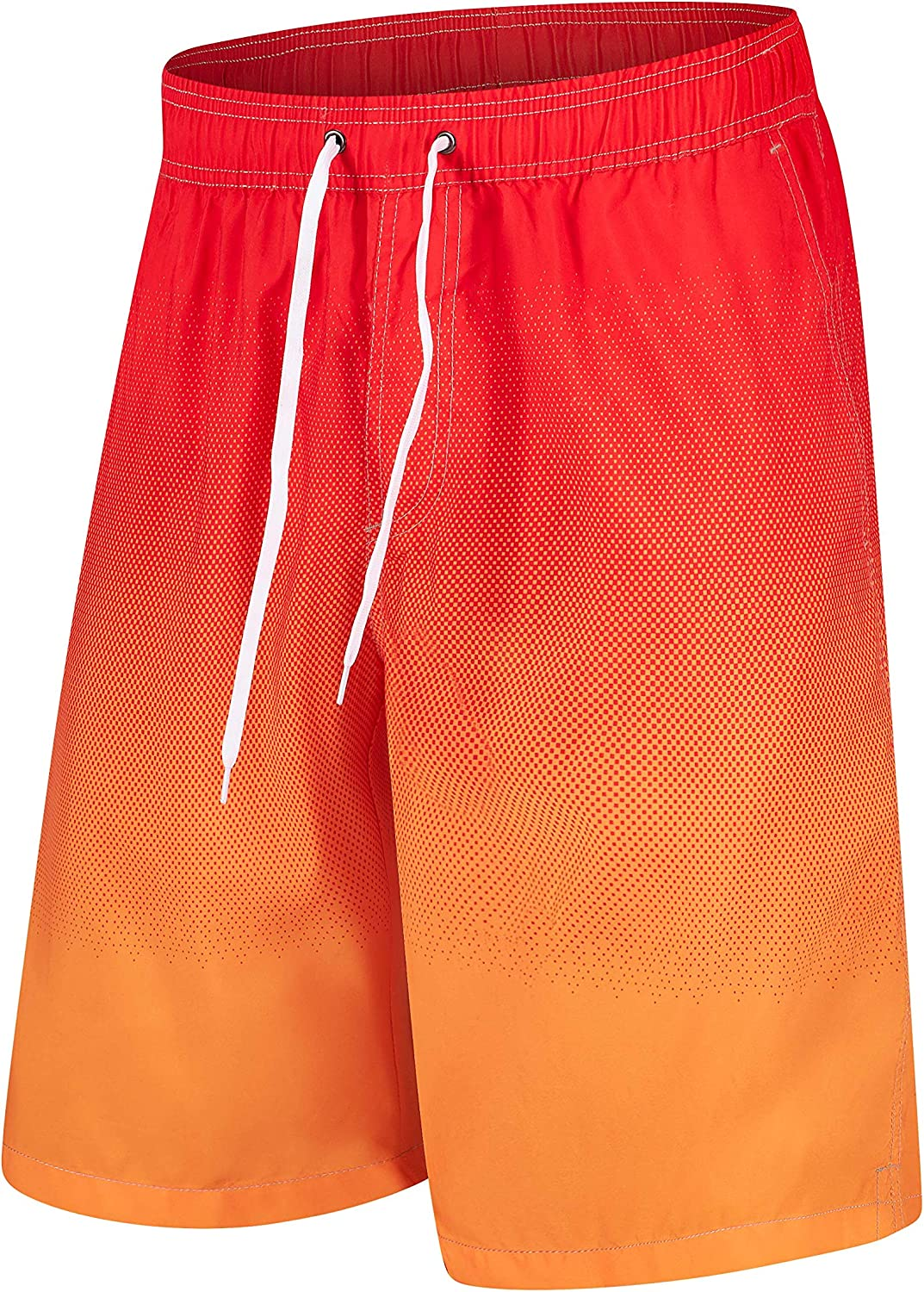 Asverd Mens Swim Trunks Quick Dry Beach Board Short with Mesh Lining and Pockets