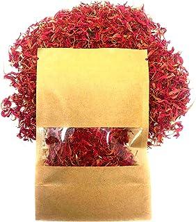 Wild Bergamot Petals – Pure, Dried, Organic Scarlet Beebalm Petals (Monarda Didyma) - Net Weight: 0.1oz/3g - Edible, Extre...