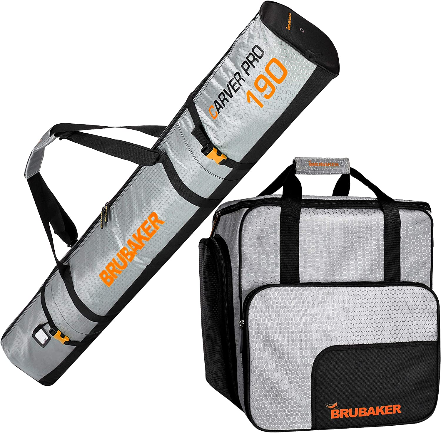 BRUBAKER Combo Set CarverTec Pro - Boot Bag Max 81% OFF for Ski Be super welcome and