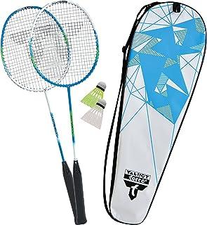 Nero//Giallo Fluo Taglia Unica Adulto Badminton Set Magic Night LED Federball Talbot Torro Unisex