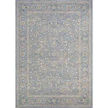 Amazon Com Couristan Sultan Treasures Floral Yazd Slate Blue Area Rug 6 6 X 9 6 Furniture Decor