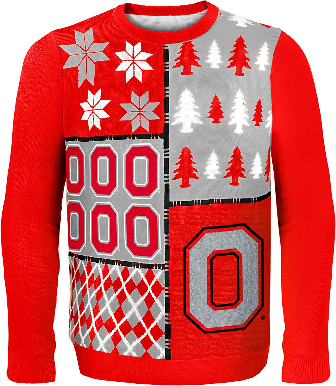 Klew NCAA Luxury goods Busy Block Sweater Large Outlet ☆ Free Shipping Ohio State Buckeyes