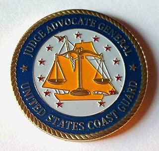 Coast Guard JAG Judge Advocate Generals Corp Military Challenge Art Coin