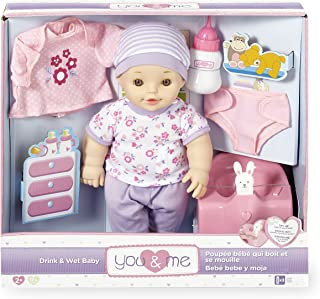 You&Me Drink and Wet 12 inch Baby Doll and Potty Set