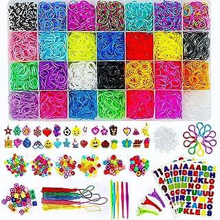 11910 Loom Rubber Bands Bracelet Kit, Big Giftable Case with Premium Quality Accessories, 28 Unique Bright Colour Bands, R...