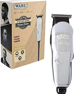 Wahl Professional 5 Star Hero Vintage Edition Corded T Blade Trimmer #8991-300 –  Great for Barbers and Stylists – Powerful Standard Electromagnetic Motor – Includes 3 Guides, Oil, and Cleaning Brush
