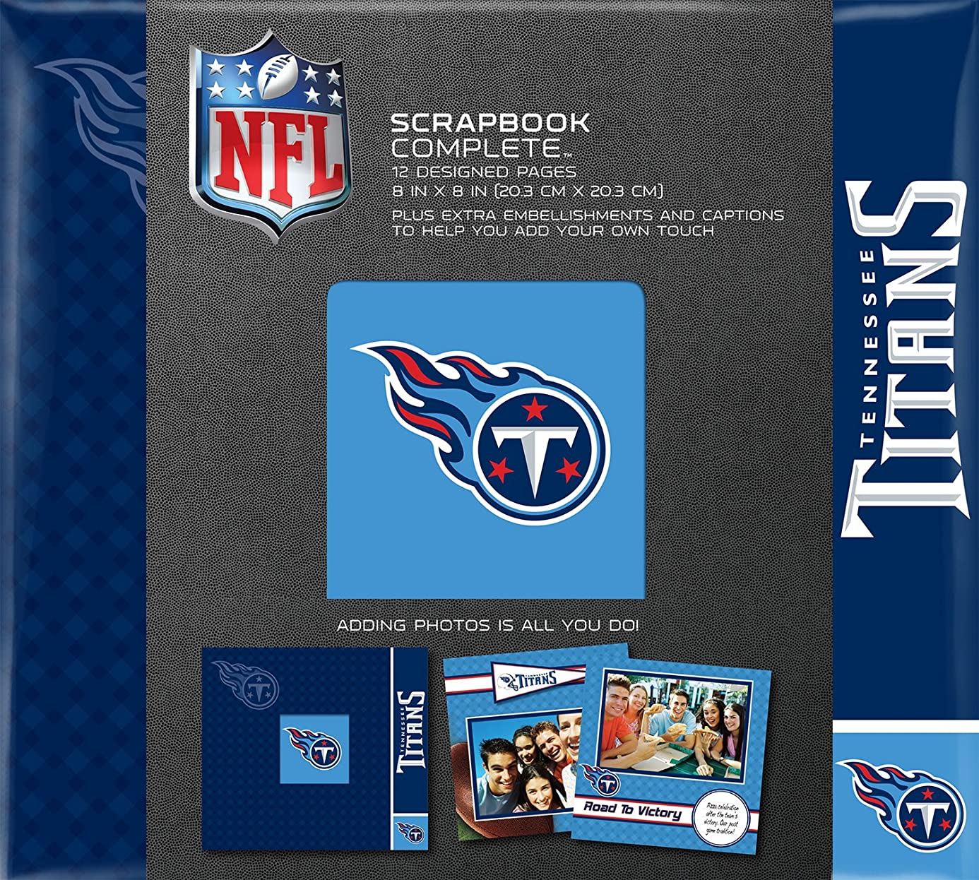 C.R. Gibson Scrapbook Complete Kit, Small, Tennessee Titans (N878617M)