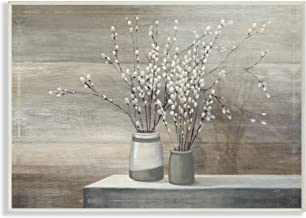 Stupell Industries Pussy Willow Still Life Oversized Wall Plaque Art, Proudly Made in USA