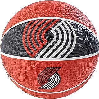 "Spalding NBA 波特兰Trail Blazers NBA Courtside Team 户外橡胶篮球队标志,红色,29.5"""