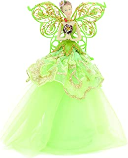 Festive Angel Tree Topper 23cm- Green