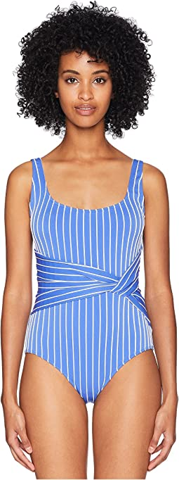 Striped Tank Twist One-Piece