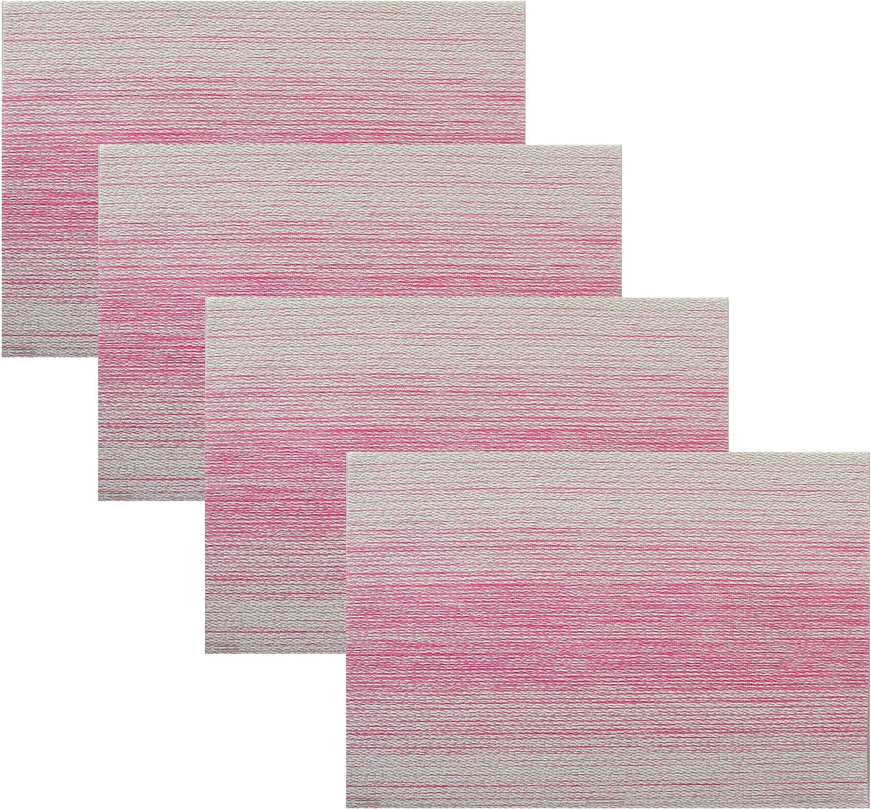 Hotel Regular store Horizon Stripe 4 Pack Color Fuschia Placemat 13X18 Max 48% OFF Set