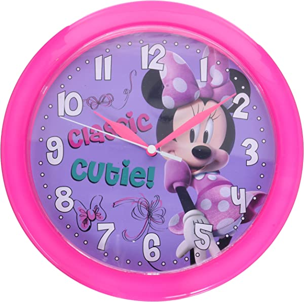 Disney Minnie Mouse Bow Tique 10 Inch Wall Clock