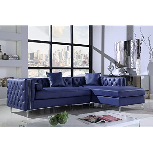 Blue Leather Furniture: Amazon.com