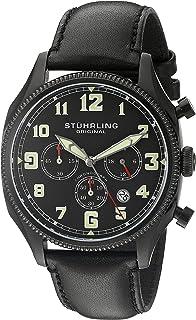 Stuhrling Original Men's 584.02 Monaco Analog Display Quartz Black Watch