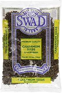 Swad Premium Quality Cardamom Seeds Decorticated (Elaichi Dana) / 100g., 3.5oz