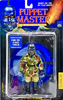 Puppet Master 1998 - Full Moon Toys Inc Action Figure Series - Torch - Japanese Exclusive Cam-Ou-Flage Figure - Camo Overcoat - OOP - Rare - New - MOC - Collectible