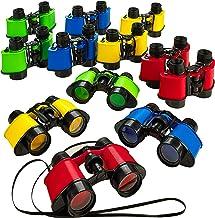 Kicko 12 Toy Binoculars with Neck String 3.5 x 5 Inches - Novelty Binoculars for Children, Sightseeing, Birdwatching, Wild...