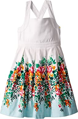 Floral Border Dress (Toddler/Little Kids/Big Kids)