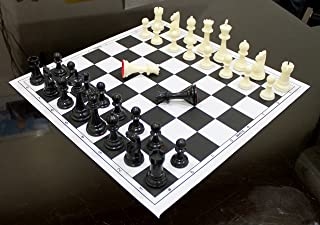 17'' x 17'' Tournament Roll Up Chess Without Pieces - Ideal for Professional Players