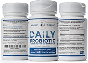 Daily Probiotic 60-Day Supply Time Release Pearls. 6 Billion CFU, Delivers 15X More Good Bacteria- Relieve Bloated Stomach & Acid Reflux. Probiotic for Digestive Health for Adults