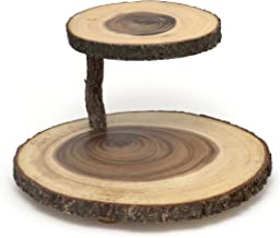 wood tiered serving tray