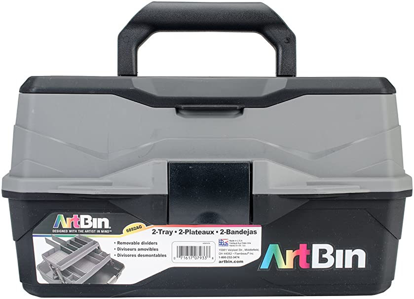 ArtBin Two Tray Art Supply Box, 6892AG