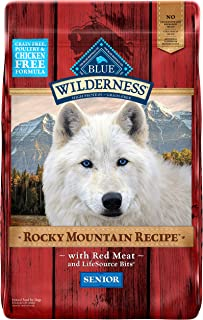 Blue Buffalo Wilderness Rocky Mountain Recipe High Protein, Natural Senior Dry Dog Food, Red Meat