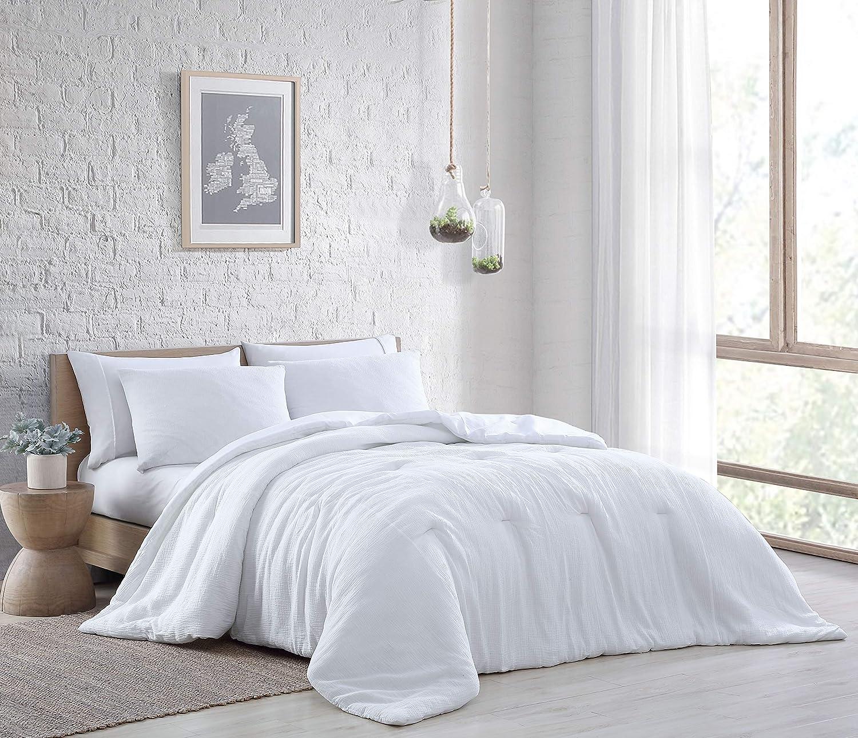 Geneva Home Fashion Annika 3 pc Comforter Set, King, White