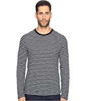 Vince - Striped Long Sleeve Crew Neck T-Shirt