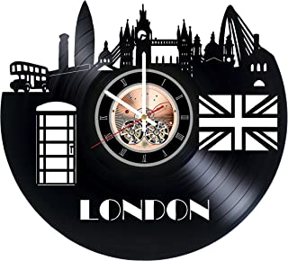 London England Vinyl Record Wall Clock - Home Room wall decor - Gift ideas for friends, boys and girls – City Unique Art D...