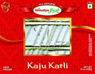 HIMALYA FRESH Kaju Katli 12oz - Premium Authentic Indian Food & Sweets Made With Cashew Nuts. Just two ingredients Cashew Nuts and sugar - No Fillers Or Preservatives (1 Box)