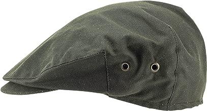 Hanna Hats of Donegal.Irish Flat Cap.Donegal Tweed.Green Wax Cotton