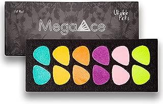 MegaAce Felt Picks for Ukulele or Guitar, 12 Pack